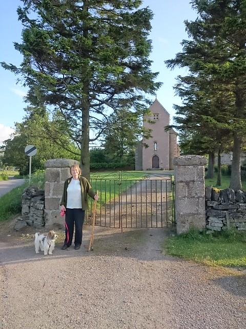 Mum at Braes of Glenlivet Church