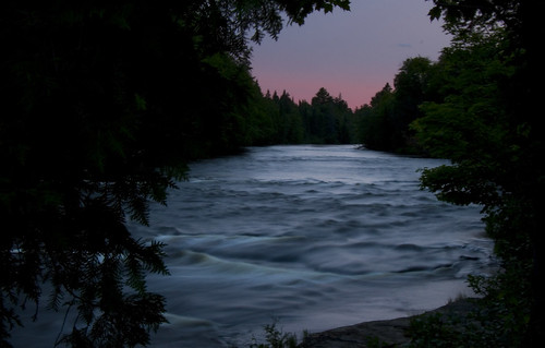 The river at the Upper Tahquamenon Falls.