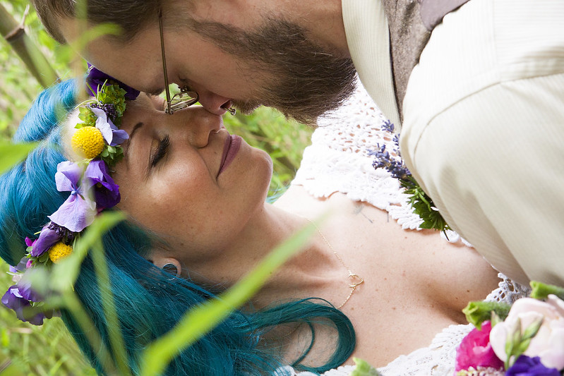 Lavender and bamboo local farm brunch wedding on @offbeatbride