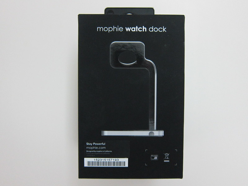 Mophie Apple Watch Dock - Box Back