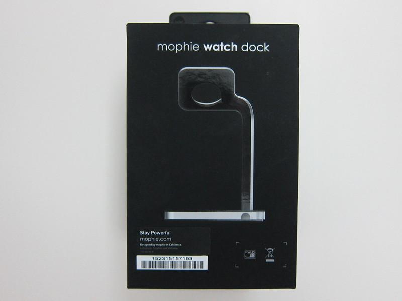 Mophie Apple Watch Dock - Box Back