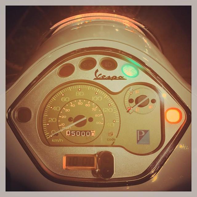 20150710 Piaggio Vespa LX125 3V 走行距離5000km突破!