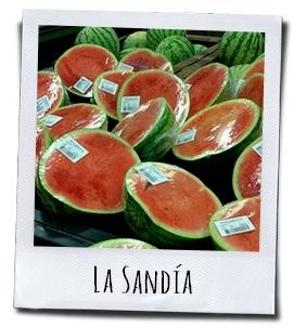 De heerlijk zoete Sandía meloen bestaat voor meer dan 90 procent uit water