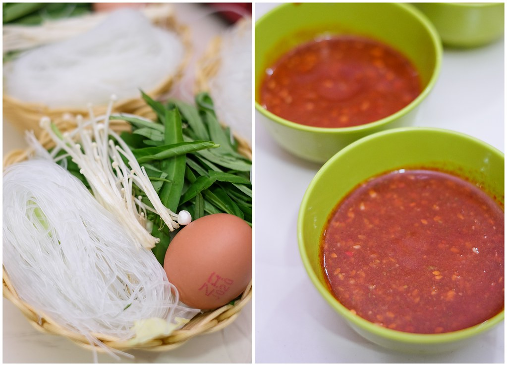 Sedap Thai: The food ingredients and sauce