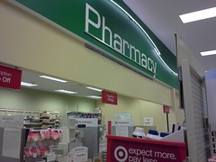 P13(?) signage at the Cordova Target pharmacy