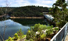 View N across Warragamba Dam, New South Wales, Australia