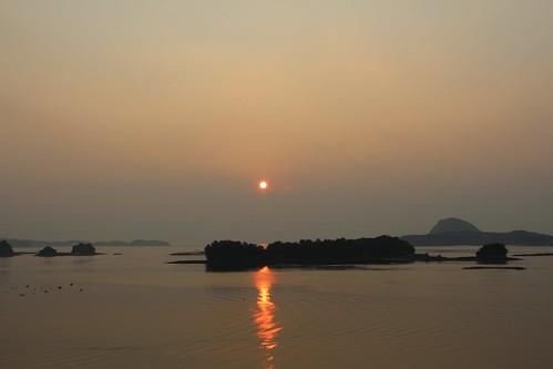 天草の夕陽