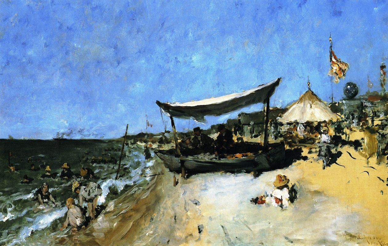 At the Shore by William Merritt Chase, 1886