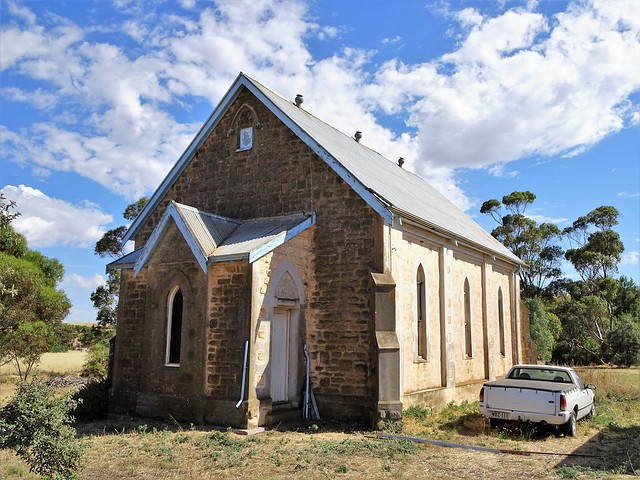 Belalie North. The former Methodist Church. The church operated from 1923 to closure in 1995. It is now a residence.