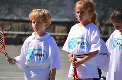 Kids At A Tennis Clinic