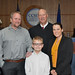 Trustee Brooks and family at the 2017 Oath of Office
