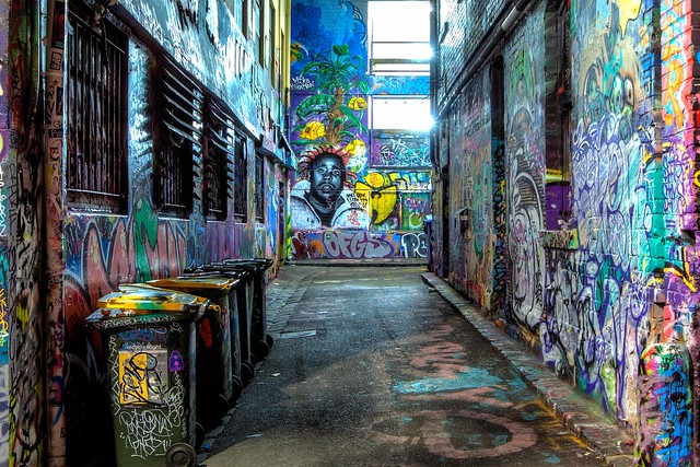 Street arts in Hoiser lane : HDR
