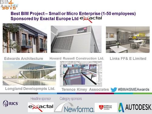 Shortlisted Best BIM SME Project small or micro enterprise BIM4SME Awards