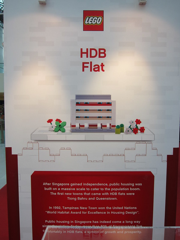 LEGO SG50 Limited Edition Singapore Icons Mini Build - HDB Flat - Poster