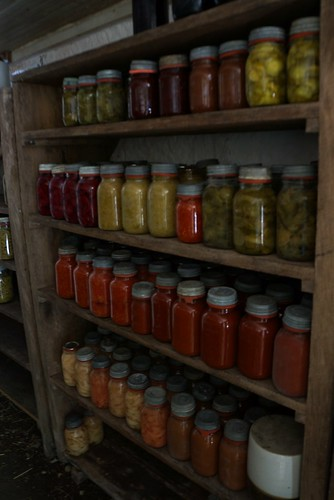 canning vegetables at slate run farm