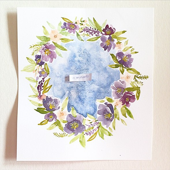 Just in case your video won't load. Here it is again, the winner, @_miranti !!! #instaart #invitation #illustagram #illustrated #inspiration #instaartist #illustration #indogiveaway #inspirationstation #paper #paint #painting #worldwide #watercolor #madei
