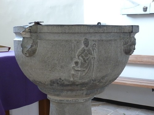 Les fonts baptismaux du 17e siècle