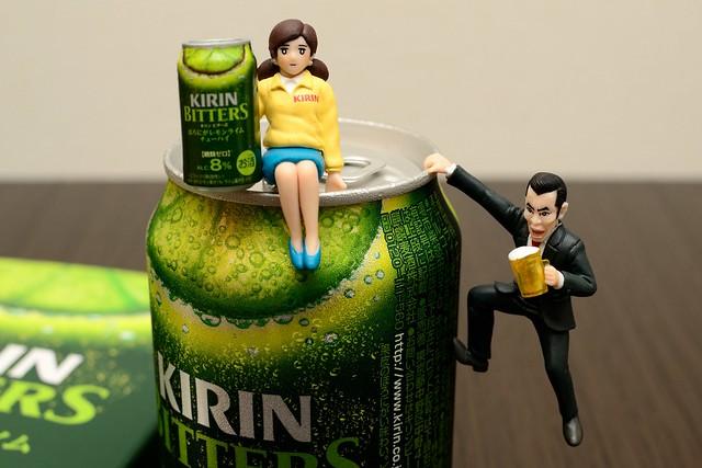 崖っプチのビール事業部とコップのフチ子