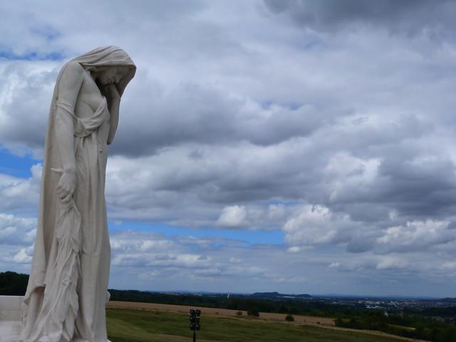 Estatua en el monumento a los canadienses en Vimy (Nord-Pas de Calais, Francia)