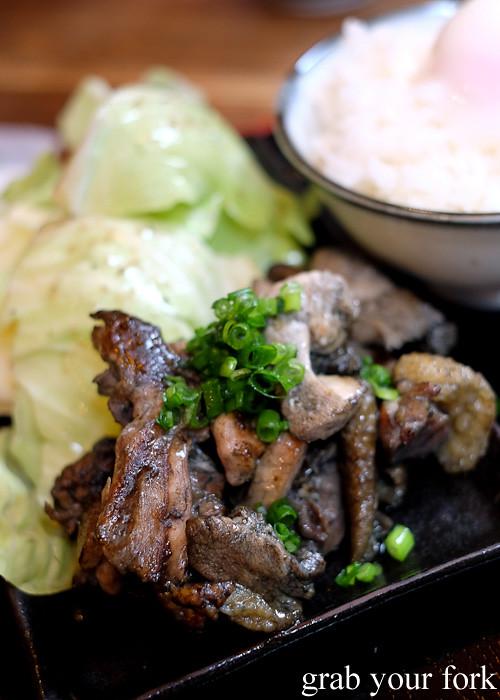 Black satsuma chicken at Tagiruba Grill in Kagomma Furusato Yataimura, Kagoshima