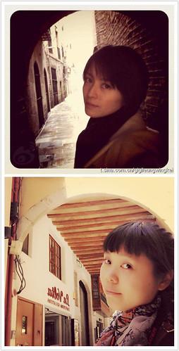 驚嘆號星球橘橘巴塞隆納模仿Gigi梁詠琪照片