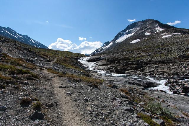 Opstigning fra Visdalen til Urdadalen