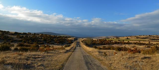 Route sur le Larzac