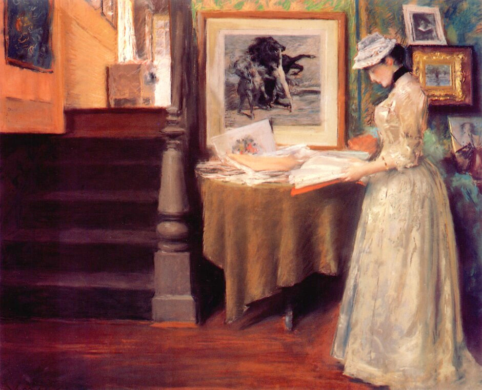 In the Studio by William Merritt Chase, 1892