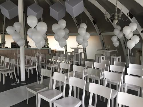 Tafeldecoratie 5ballonnen Lange Linten Abel Poortugaal