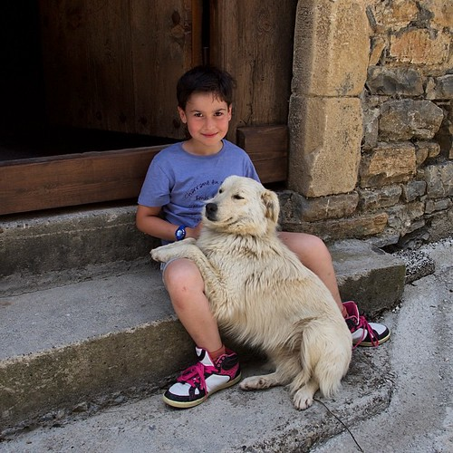Pablo ha hecho nuevos amigos ;-) #perros #dog #instaaragon #igershuesca #Pirineos #igersaragon