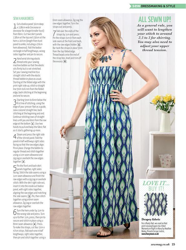 My Maxi Dress in Sew Magazine - July 2015