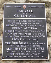 Photo of Bargate, Southampton and Guildhall, Southampton black plaque