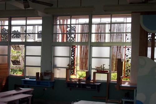 永安國小綠建築多元隔熱系統。李育琴攝