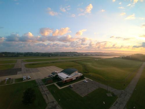 fog sunrise aerial kuni