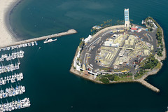 port, bird's-eye view, vehicle, sea, dock, artificial island, aerial photography, marina, waterway,