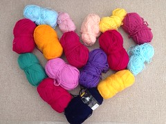 Double Knitting - various colours.For Sale approx 1300gms. £11.00 Plus Postage