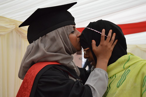 Amira Ahmed with her mother