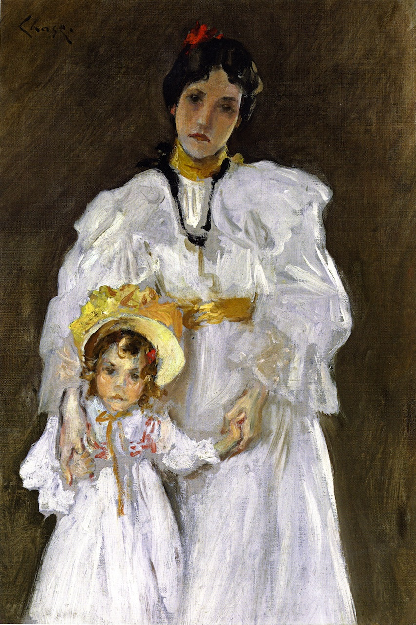 Sketch for the Portrait of Mother and Child) by William Merritt Chase, c.1915