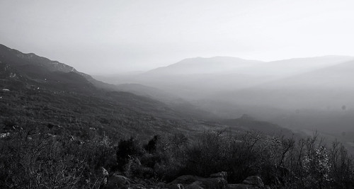 ostrog blackwhite mountains landscape light sacred