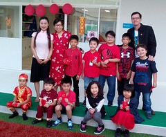 Chinese New Year activities at Singapore International School SISB in Chiang Mai Thailand