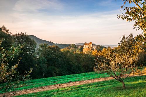 austria castle leibnitzarea hillsmountains