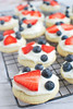 Red, White, and Blue Mini Fruit Pizzas