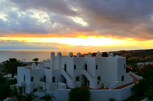 Sunset from Barra y Mantel, San Eugenio, Tenerife