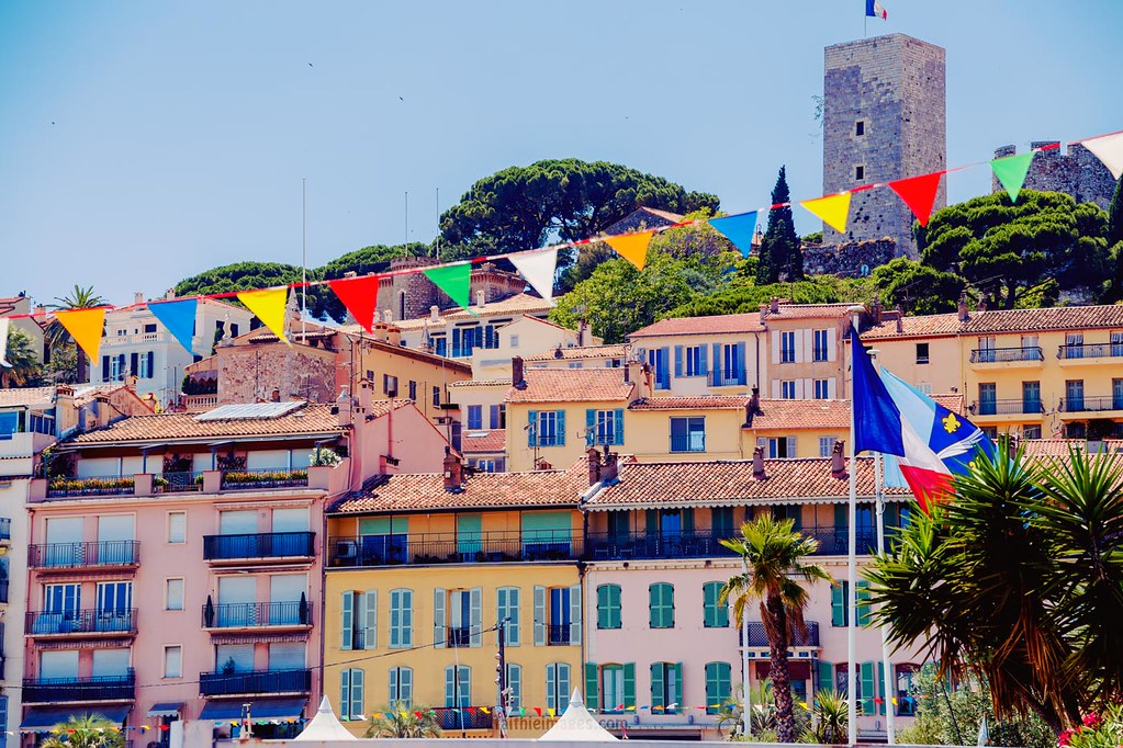 Colorful houses on the French Riviera