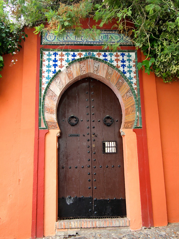A door in Granada's Albaicin neighborhood