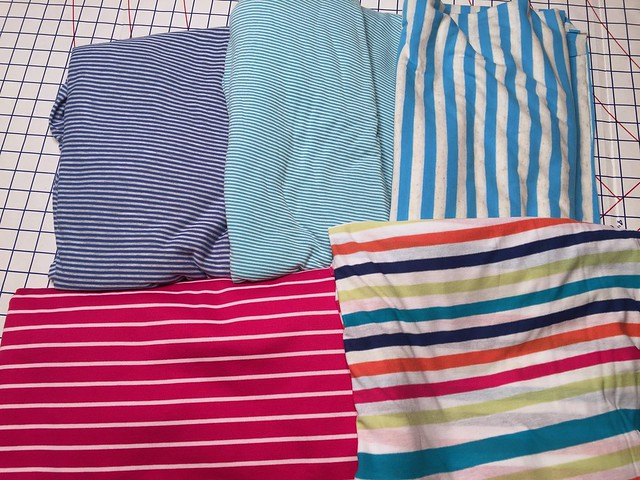 Stripe knit fabrics