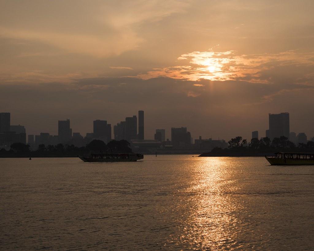 2015.07.26 Sunset at Odaiba  (夕景 - 東京お台場)