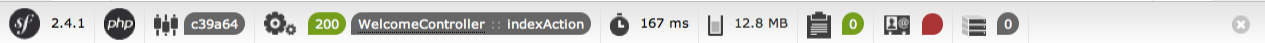 Symfony 2.0 Web Debug Toolbar