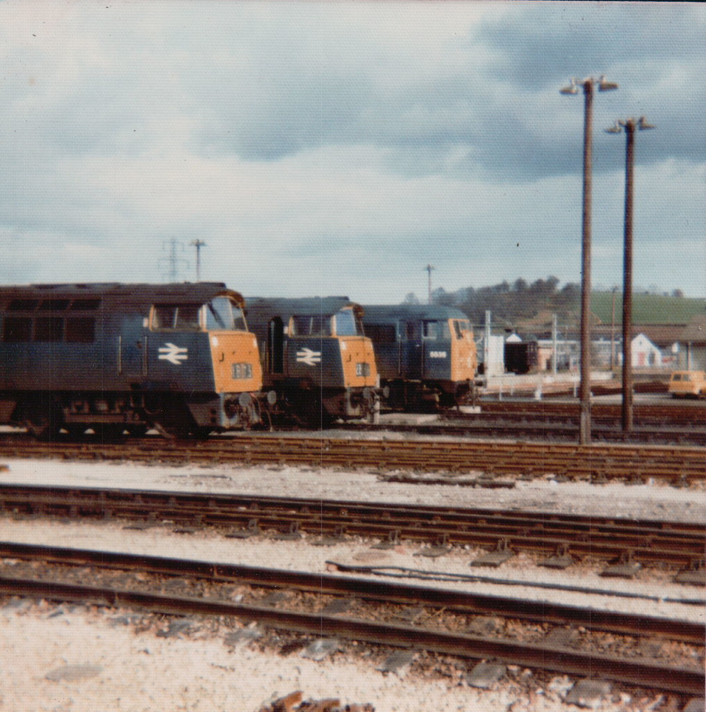 Newton Abbot, 2nd March 1974, 1043 Western Duke, 1047 Western Lord and class 31, 5535