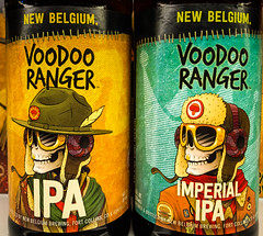 New Belgium Voodoo Ranger IPA and Imperial IPA Fort Collins CO
